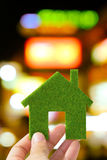 zielony eco dom Obrazy Royalty Free