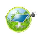 Eco logo panel słoneczny Obrazy Stock