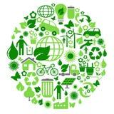 Zielony eco okrąg ilustracji