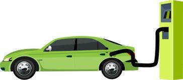 zielony Eco samochód, ekologicznego tematu pojęcia wektorowa ilustracja, royalty ilustracja