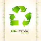 zielony eco szablon Fotografia Royalty Free