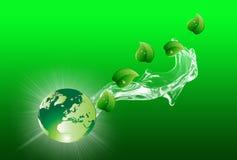 Zielony Eco świat, natura i Royalty Ilustracja