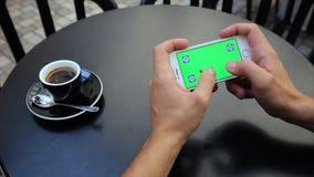 Zielony ekran dla pisać na maszynie teksta horizontally z Obrazy Stock