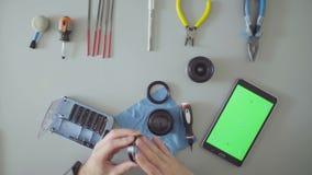 zielony ekran Samiec wręcza smarować obiektyw zdjęcie wideo