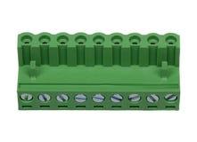 Zielony elektryczny włącznik Zdjęcia Stock