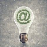 Zielony emaila symbol Zdjęcia Royalty Free