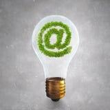 Zielony emaila symbol Zdjęcie Stock