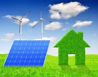 Zielony energetyczny pojęcie Obrazy Royalty Free