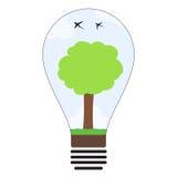 Zielony energetyczny pomysł żarówki pojęcie Zdjęcia Royalty Free
