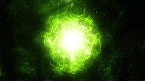 Zielony Energetyczny sedno wstępu loga tła tło ilustracja wektor