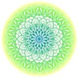 Zielony etniczny mandala Obrazy Royalty Free