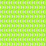 Zielony falowanie paskuje bezszwowego tło Zdjęcia Royalty Free