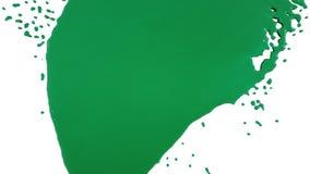 Zielony farby obcieknięcia puszek nad ekranem farbujący olej ilustracja wektor