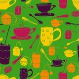 Zielony filiżanka wzór Fotografia Stock