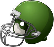 Zielony Futbolowy hełm Obraz Stock