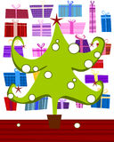 zielony futerka drzewo ilustracja wektor