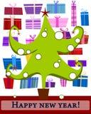zielony futerka drzewo ilustracji