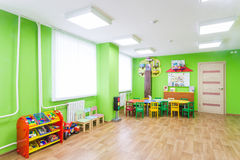 Zielony gemowy pokój w dziecinu Obraz Stock
