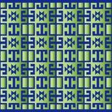 Zielony geometryczny retro tło Royalty Ilustracja