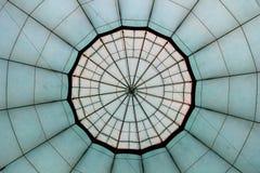 Zielony gorące powietrze balonu wzór Zdjęcia Royalty Free