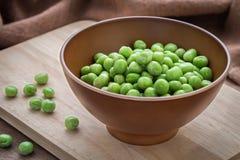 zielony groszek misek Obrazy Royalty Free