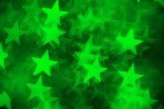 Zielony gwiazdowy kształt jako tło Fotografia Stock