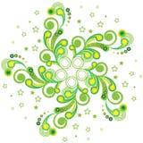 Zielony gwiazdowy ornament Obrazy Stock