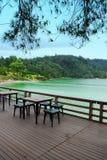 Zielony halny jezioro Zdjęcie Royalty Free