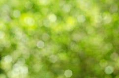 Zielony i Żółty Bokeh Obrazy Royalty Free