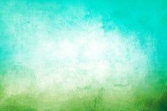 Zielony i Błękitny Grunge tło Zdjęcie Royalty Free
