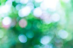 Zielony i błękitny lata bokeh dla tła Fotografia Royalty Free