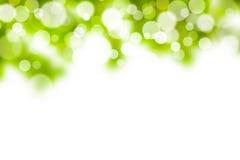 Zielony i biały bokeh tło Obraz Royalty Free