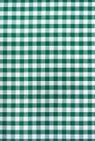 Zielony i biały tablecloth Zdjęcie Royalty Free