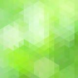 Zielony i biały wieloboka tło Obrazy Stock