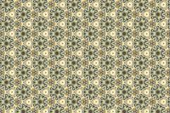 Zielony i biały kaktusowy abstrakta wzór Obraz Royalty Free