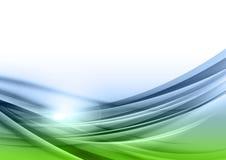 Zielony i błękitny abstrakt Obrazy Royalty Free