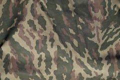 Zielony i brown militarny kamuflażu munduru wzór Fotografia Royalty Free