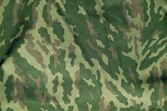 Zielony i brown militarny kamuflażu munduru wzór Fotografia Stock