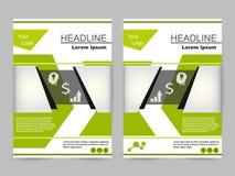 Zielony i czarny broszurka projekt Zdjęcia Royalty Free