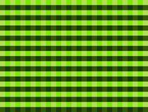 Zielony i czarny gingham wzór Fotografia Stock