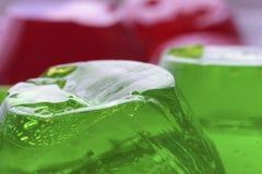 Zielony i czerwony jello Obraz Stock
