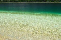 Zielony i Jasny jezioro Obraz Royalty Free