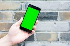 Zielony i pusty ekran mądrze telefon Zdjęcia Stock