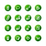 zielony ico komórki naklejki wizowej Zdjęcia Royalty Free