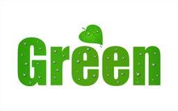 zielony idzie liść Fotografia Stock