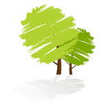 zielony ikony drzewo fotografia stock