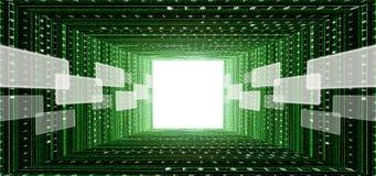 zielony interfejsu matrycy ekranu dotyka tunel royalty ilustracja