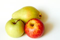 Zielony jabłczany czerwony jabłko i bonkreta zdjęcia stock