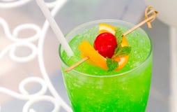 Zielony Jabłczany koktajl Fotografia Stock