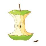 Zielony jabłczany sedno royalty ilustracja